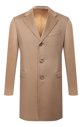 Мужской кашемировое пальто CORNELIANI бежевого цвета, арт. 861403-0812098/00 | Фото 1