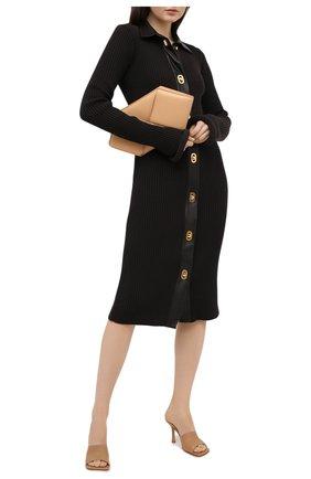 Женские кожаные мюли BOTTEGA VENETA бежевого цвета, арт. 610538/VBSF0   Фото 2