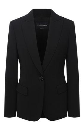 Женский шерстяной жакет GIORGIO ARMANI черного цвета, арт. 0WHGG0H0/T01QW | Фото 1