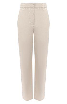 Женские хлопковые брюки GIORGIO ARMANI бежевого цвета, арт. 0WHPP0EM/T022S | Фото 1