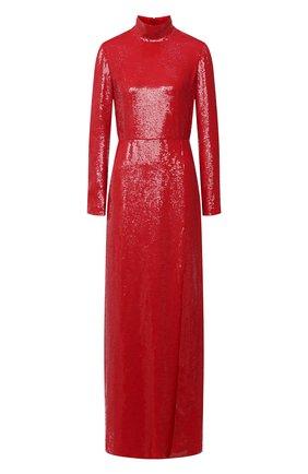 Женское платье с пайетками VALENTINO красного цвета, арт. UB0VDBA52UP | Фото 1