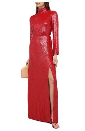Женское платье с пайетками VALENTINO красного цвета, арт. UB0VDBA52UP | Фото 2