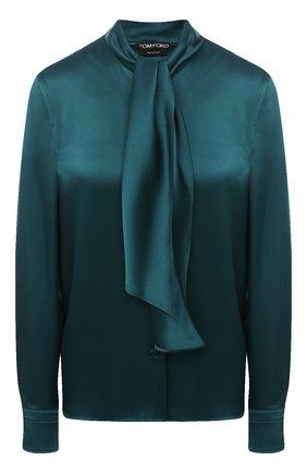 Женская блузка TOM FORD зеленого цвета, арт. CA3171-FAX727 | Фото 1