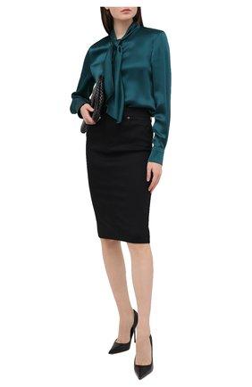 Женская блузка TOM FORD зеленого цвета, арт. CA3171-FAX727 | Фото 2