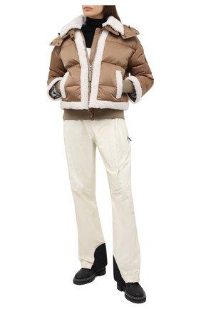 Женская куртка с меховой отделкой BOGNER бежевого цвета, арт. 31852788 | Фото 2