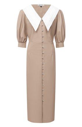 Женское платье MASTERPEACE бежевого цвета, арт. MP-CapEco20-02 | Фото 1