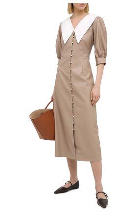 Женское платье MASTERPEACE бежевого цвета, арт. MP-CapEco20-02 | Фото 2