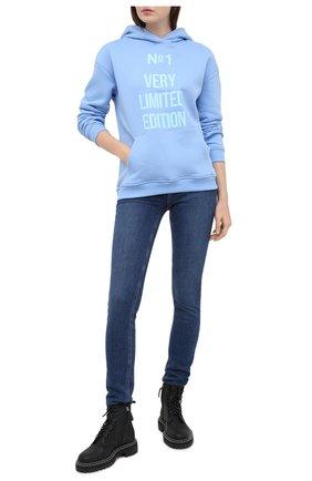 Женская хлопковое худи SEVEN LAB голубого цвета, арт. HW20-VLE-G084 blue | Фото 2