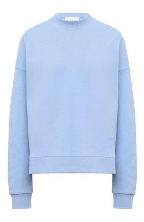 Женская свитшот GANNI голубого цвета, арт. T2631 | Фото 1