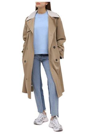 Женская свитшот GANNI голубого цвета, арт. T2631 | Фото 2