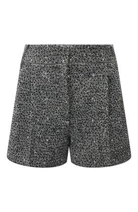 Женские шерстяные шорты VALENTINO черно-белого цвета, арт. UB0RF1L02NS | Фото 1
