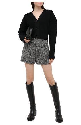 Женские шерстяные шорты VALENTINO черно-белого цвета, арт. UB0RF1L02NS | Фото 2