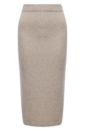 Женская кашемировая юбка RALPH LAUREN кремвого цвета, арт. 290816569 | Фото 1
