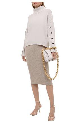 Женская кашемировая юбка RALPH LAUREN кремвого цвета, арт. 290816569 | Фото 2