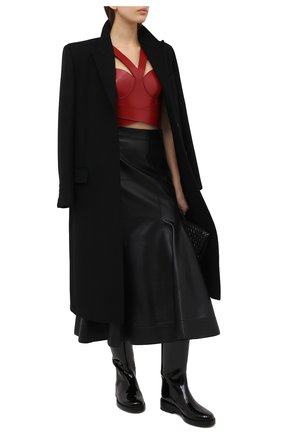 Женская кожаный топ ALEXANDER MCQUEEN красного цвета, арт. 633550/Q5AEC | Фото 2