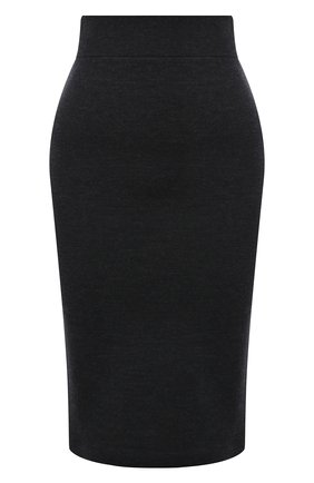 Женская юбка BURBERRY темно-серого цвета, арт. 8034441 | Фото 1