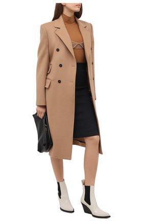 Женская юбка BURBERRY темно-серого цвета, арт. 8034441 | Фото 2