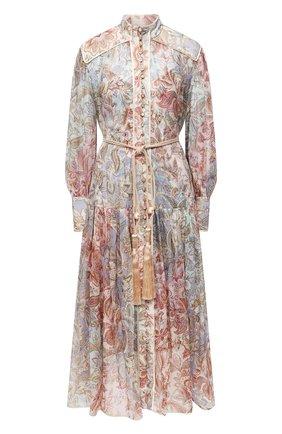 Женское шелковое платье ZIMMERMANN разноцветного цвета, арт. 9180DLKY | Фото 1