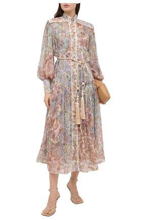 Женское шелковое платье ZIMMERMANN разноцветного цвета, арт. 9180DLKY | Фото 2