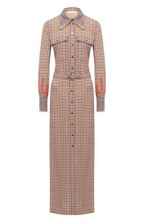 Женское платье из вискозы CHLOÉ бежевого цвета, арт. CHC20WR019348   Фото 1
