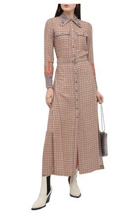 Женское платье из вискозы CHLOÉ бежевого цвета, арт. CHC20WR019348 | Фото 2