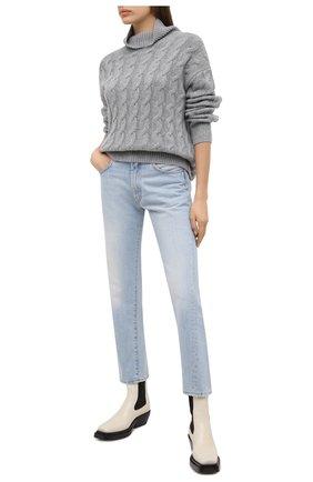 Женский кашемировый свитер FTC серого цвета, арт. 810-0300 | Фото 2