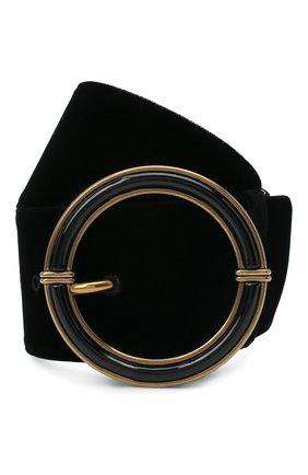 Женский текстильный ремень GIORGIO ARMANI черного цвета, арт. Y1I238/YVC0D | Фото 1 (Материал: Текстиль)