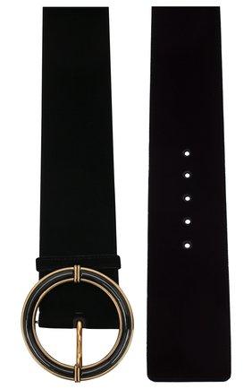 Женский текстильный ремень GIORGIO ARMANI черного цвета, арт. Y1I238/YVC0D | Фото 2 (Материал: Текстиль)