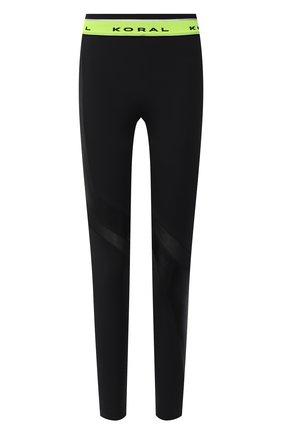 Женские леггинсы KORAL черного цвета, арт. A2627HE32 | Фото 1