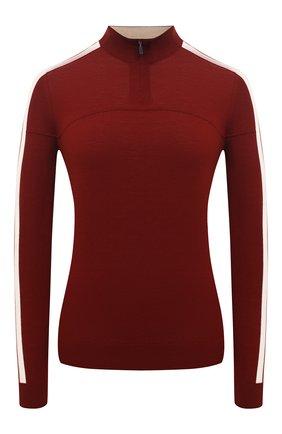 Женский шерстяной пуловер LORO PIANA бордового цвета, арт. FAL0054   Фото 1