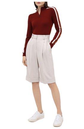 Женский шерстяной пуловер LORO PIANA бордового цвета, арт. FAL0054   Фото 2
