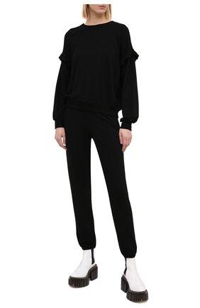Женская свитшот MONROW черного цвета, арт. HT0984 | Фото 2