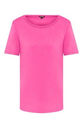 Женская хлопковая футболка MONROW розового цвета, арт. HT0415SFJ | Фото 1