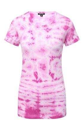 Женская хлопковая футболка MONROW розового цвета, арт. HT0324-5 | Фото 1