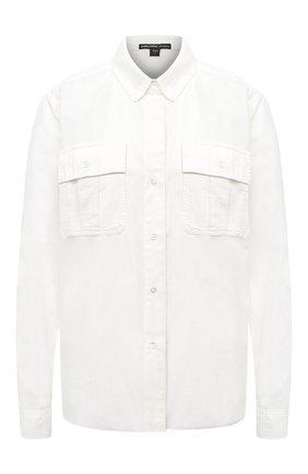 Женская хлопковая рубашка JAMES PERSE белого цвета, арт. WKUP3698 | Фото 1