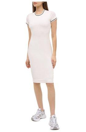 Женское хлопковое платье JAMES PERSE белого цвета, арт. WGCR6483 | Фото 2