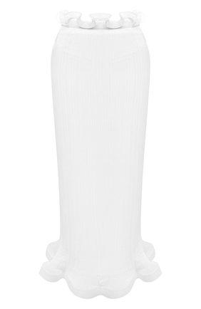 Женская юбка BURBERRY белого цвета, арт. 4566265   Фото 1 (Материал подклада: Вискоза; Материал внешний: Синтетический материал; Женское Кросс-КТ: Юбка-одежда; Стили: Романтичный; Длина Ж (юбки, платья, шорты): Макси)