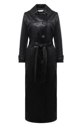 Женский плащ SAINT LAURENT черного цвета, арт. 634650/Y7B15   Фото 1