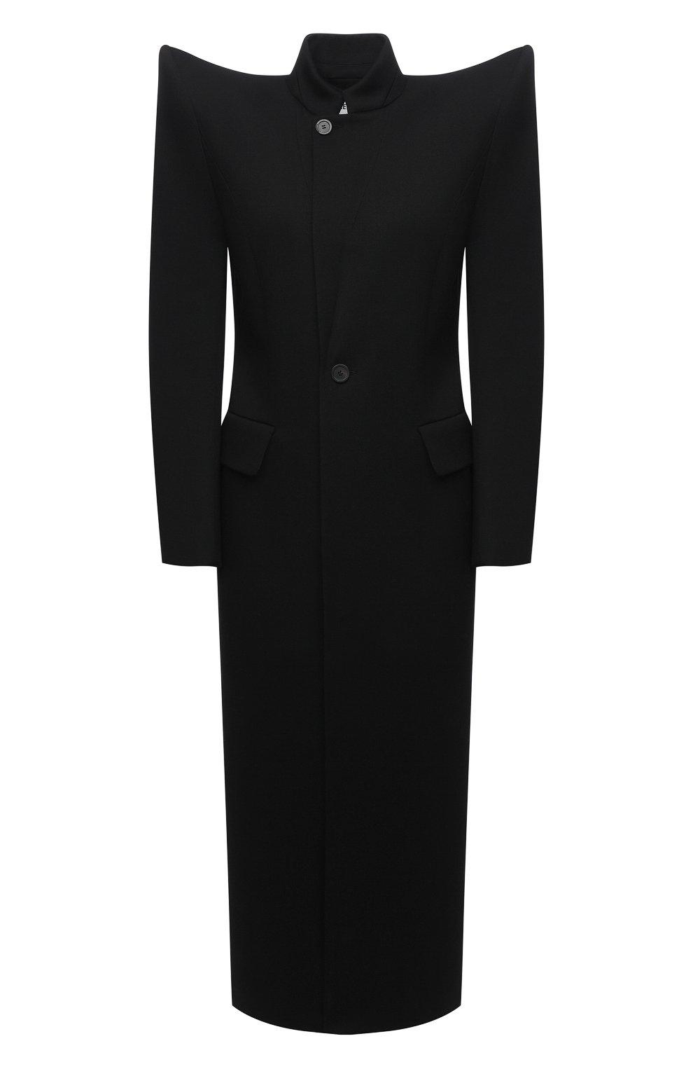 Женское шерстяное пальто BALENCIAGA черного цвета, арт. 642181/TJT24 | Фото 1