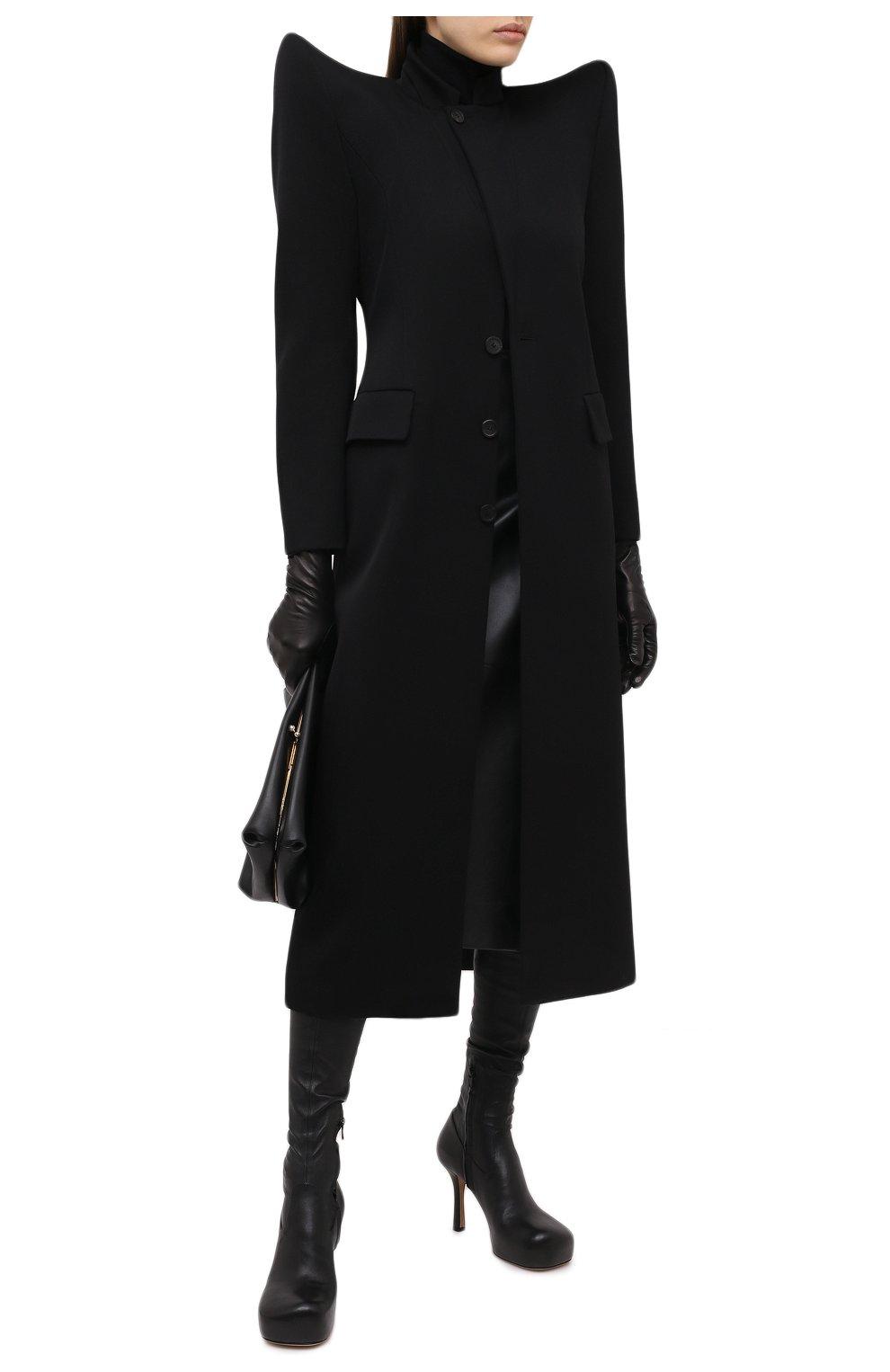 Женское шерстяное пальто BALENCIAGA черного цвета, арт. 642181/TJT24   Фото 2