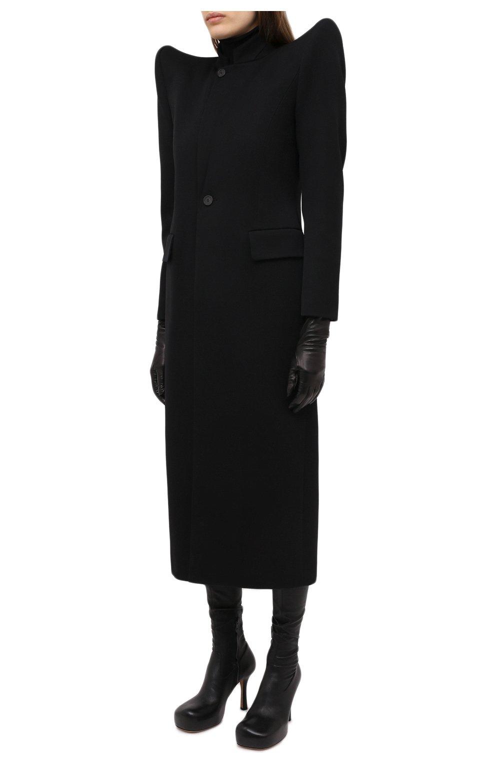 Женское шерстяное пальто BALENCIAGA черного цвета, арт. 642181/TJT24   Фото 3
