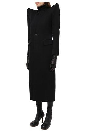 Женское шерстяное пальто BALENCIAGA черного цвета, арт. 642181/TJT24 | Фото 3