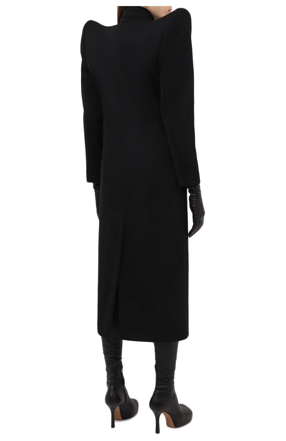 Женское шерстяное пальто BALENCIAGA черного цвета, арт. 642181/TJT24 | Фото 4