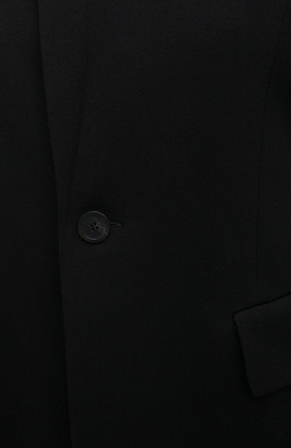 Женское шерстяное пальто BALENCIAGA черного цвета, арт. 642181/TJT24   Фото 5