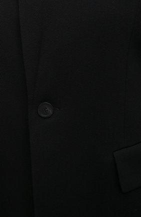 Женское шерстяное пальто BALENCIAGA черного цвета, арт. 642181/TJT24 | Фото 5