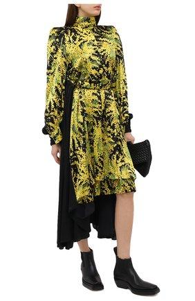 Женское шелковое платье BALENCIAGA желтого цвета, арт. 642235/TJL16 | Фото 2