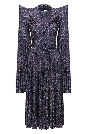 Женское платье BALENCIAGA синего цвета, арт. 642185/TJLQ8 | Фото 1