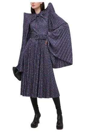 Женское платье BALENCIAGA синего цвета, арт. 642185/TJLQ8 | Фото 2