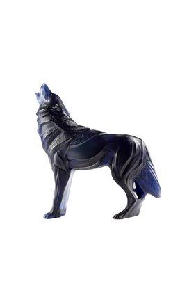 Скульптура волк LALIQUE синего цвета, арт. 10729900 | Фото 1