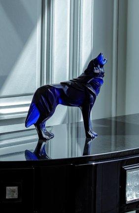 Скульптура волк LALIQUE синего цвета, арт. 10729900 | Фото 2
